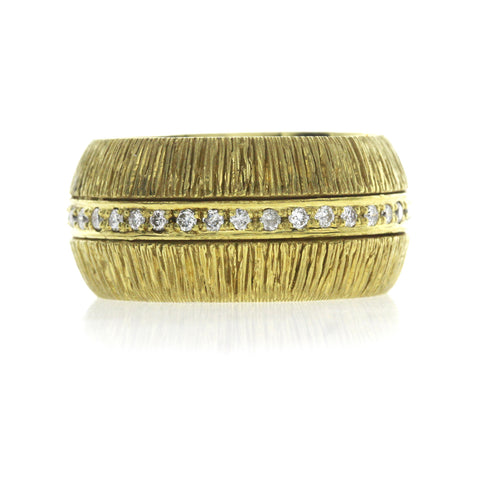 Fancy 0.44 CT Diamonds in 18K Yellow Gold Wedding Band Ring