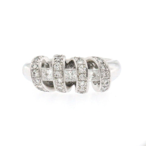 1.00 CT Diamonds in 18K White Gold Wedding Band Ring