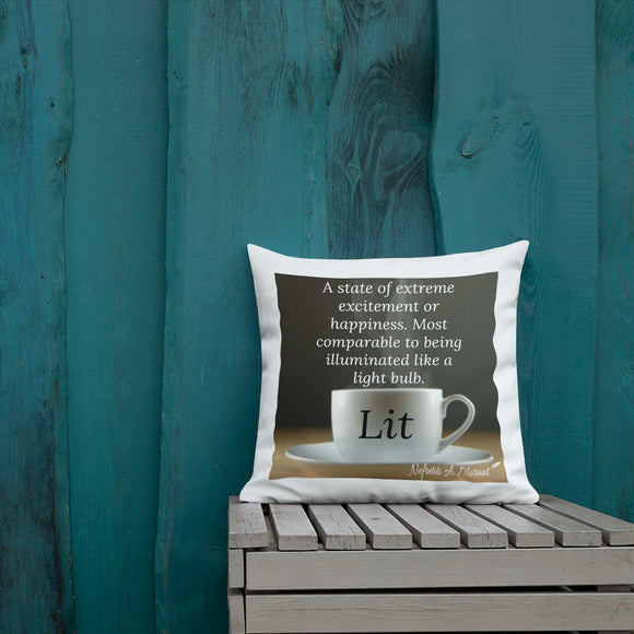 Sips of Inspiration Premium Pillow (Lit)