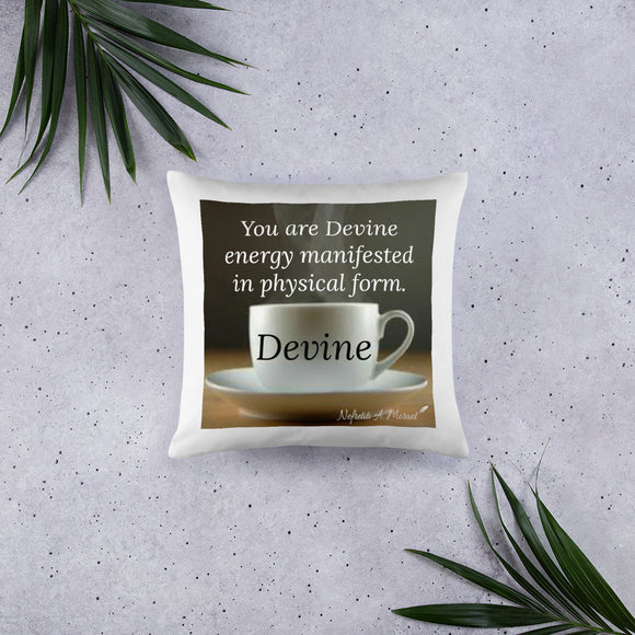 Sips of Inspiration Basic Pillow (Devine)