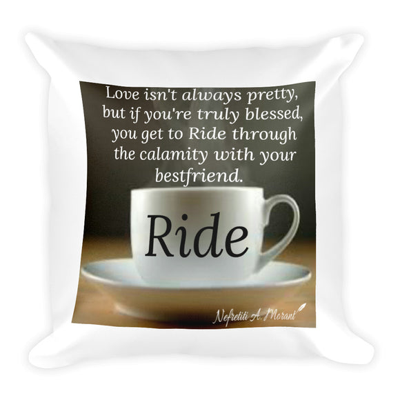 Sips of Inspiration Basic Pillow (Ride)