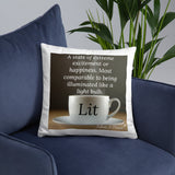 Sips of Inspiration Pillow (Lit)