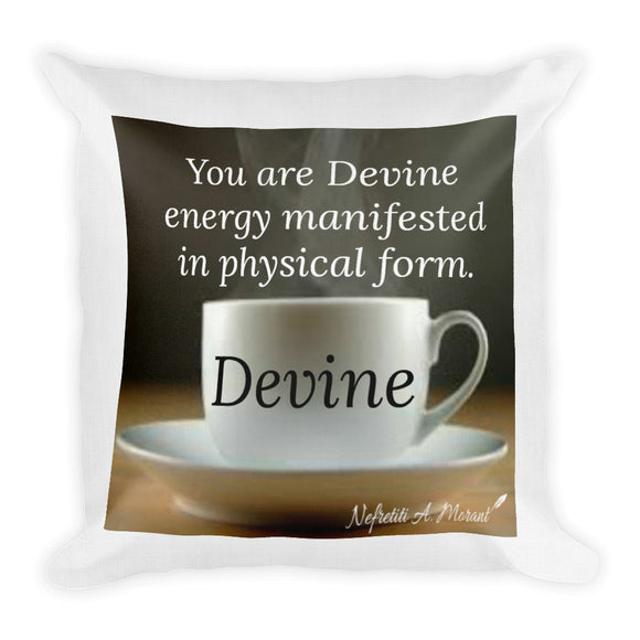 Sips of Inspiration Premium Pillow (Devine)