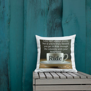 Sips of Inspiration Premium Pillow (Ride)