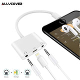 Apple Lightning to 3.5mm Double Headphone Jack Adapter and Charger Splitter