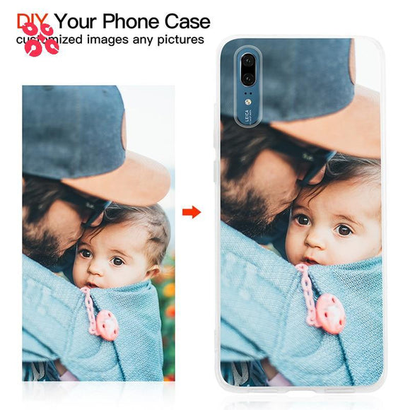 Customised DIY Soft Clear Cover Case For iPhone