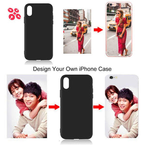 Customised DIY Black Soft Phone Case For Apple iPhone