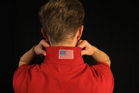 Men's Popped Collar Red Glare Polo