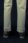 Red Glare Cuffed 5-Pocket Pant