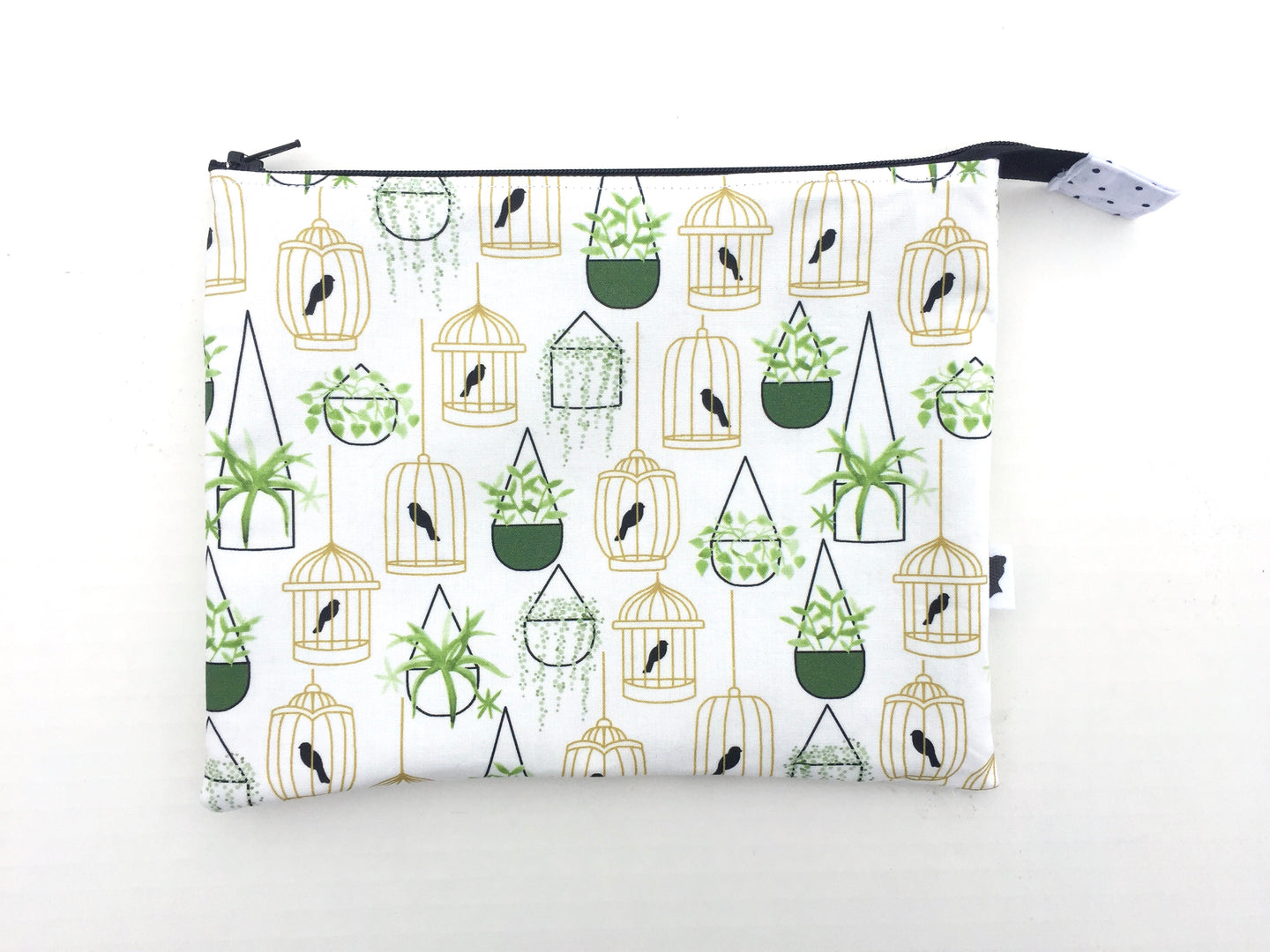 hanging plants and birdcages large zipper pouch