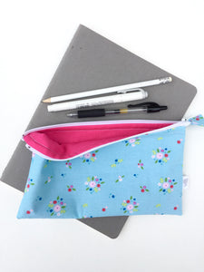tiny bouquets zipper pouch