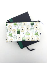 Load image into Gallery viewer, hanging plants and birdcages zipper pouch