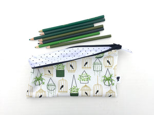 hanging plants and birdcages zipper pouch