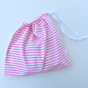 begonia stripes drawstring bag