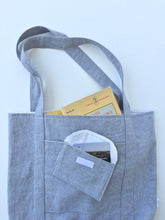 Load image into Gallery viewer, grey linen tote