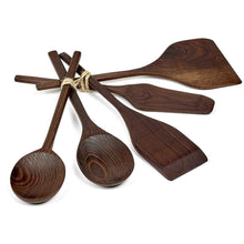 Load image into Gallery viewer, Ash Wood Kitchen Tool Set