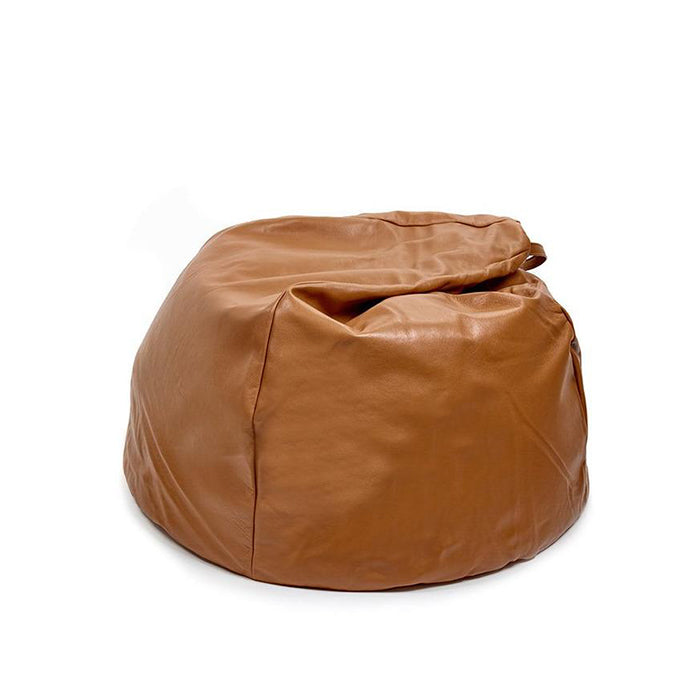 Cognac Leather Bean Bag