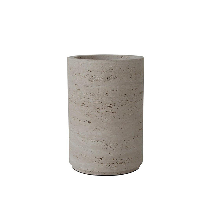 Large Travertine Vase