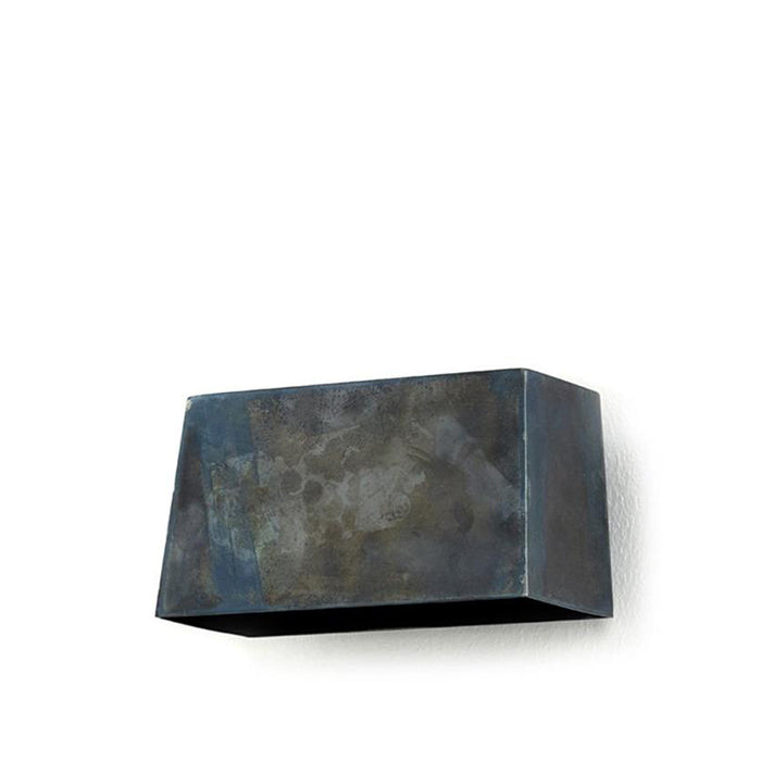 Small Blue Steel Wall Lamp
