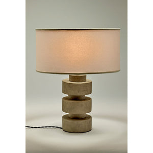 Concrete Disc Lamp