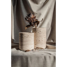 Load image into Gallery viewer, Small Travertine Vase