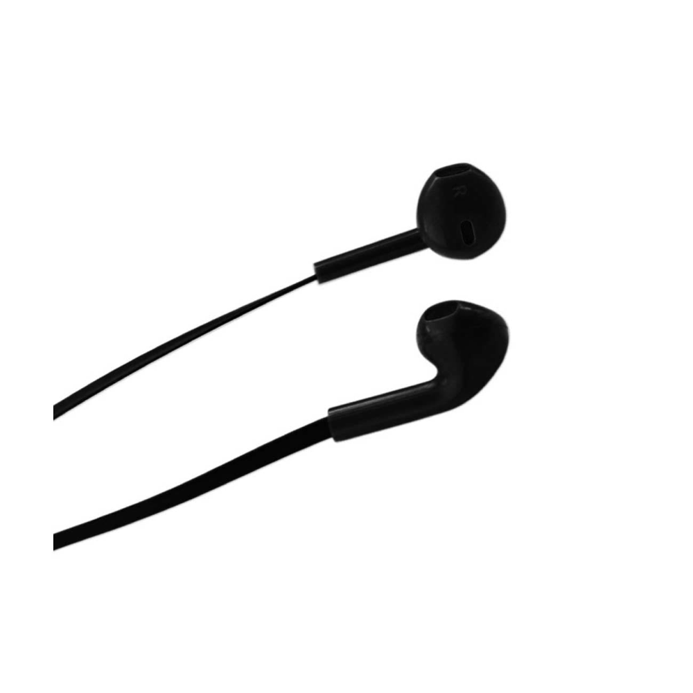 In Ear Headphones With Volume Remote Control And Mic In Black