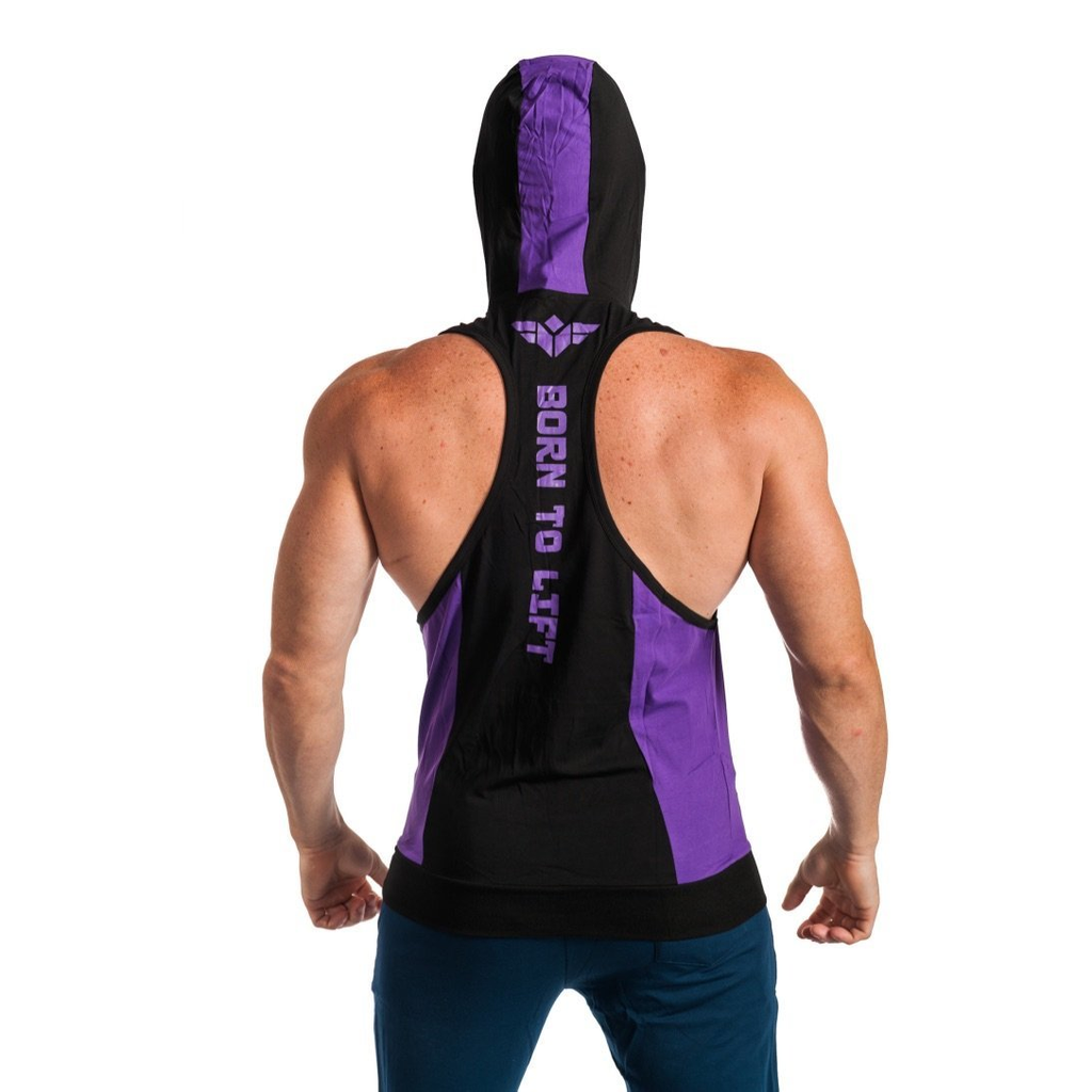 BORN TO LIFT TWO TONE STRINGER HOODIE