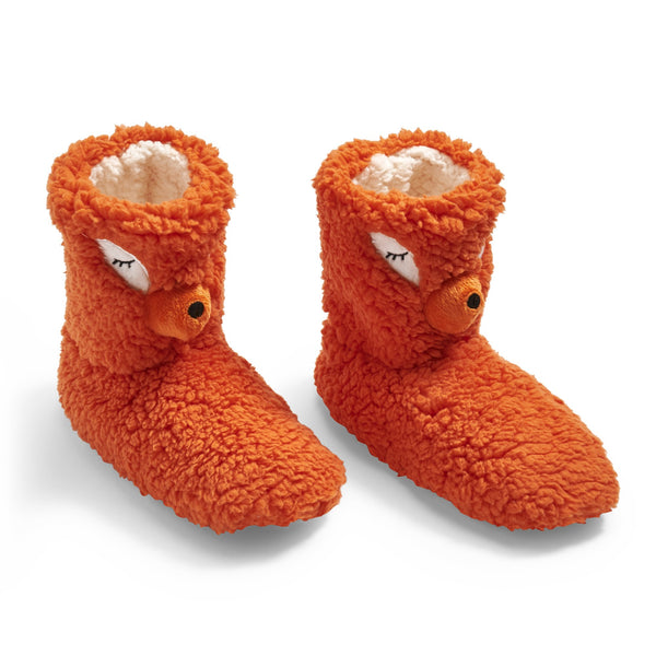 Fierce Fox Booties Slipper Socks by Fuzzy Babba