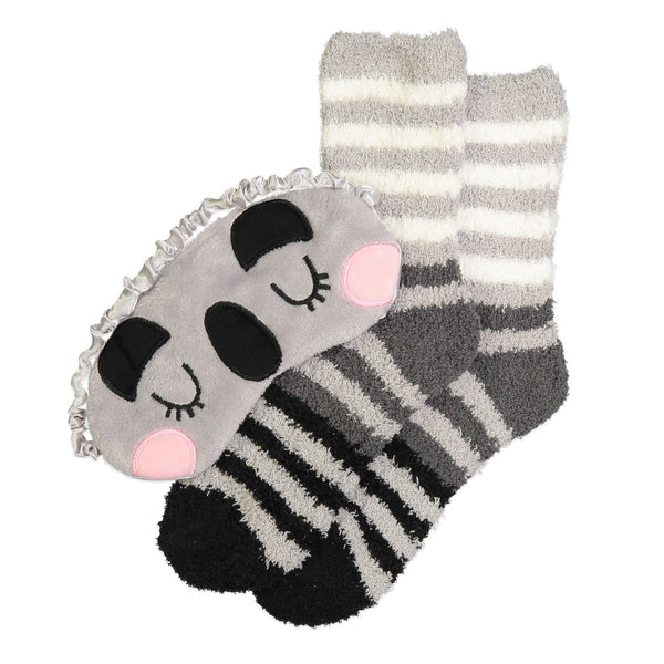 Cozy Nap Set with Fuzzy Socks and Eye Mask by Fuzzy Babba