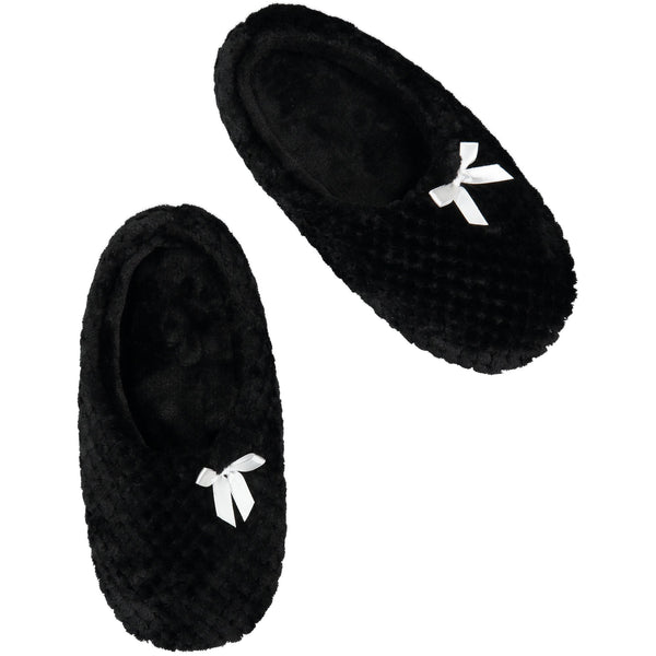 Black Mules Slipper Socks by Fuzzy Babba