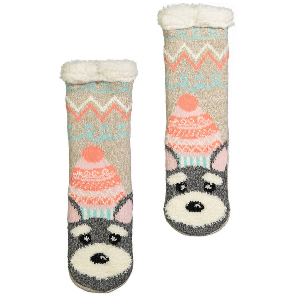Kids Sloth Scotty Dog Slipper Socks