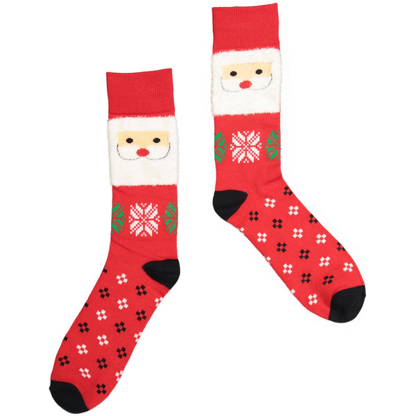 Men's Santa Claus Holiday Crew Sock