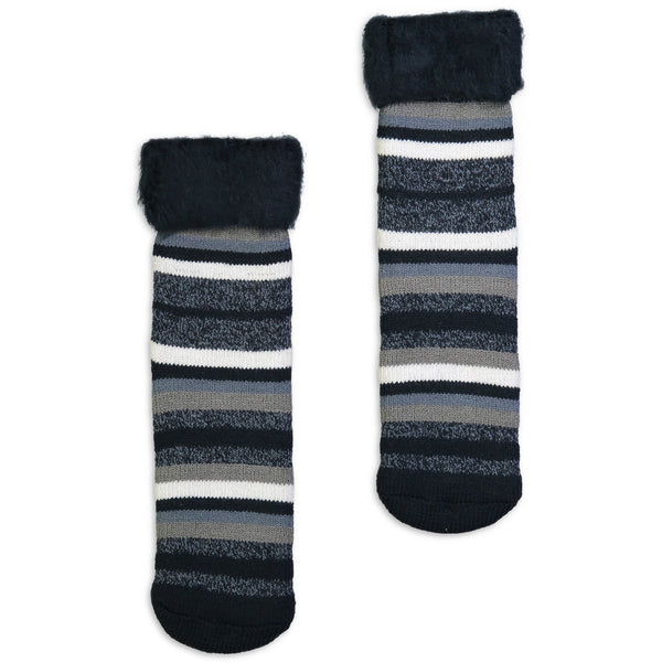 Men's Striped Cozy Boot Socks