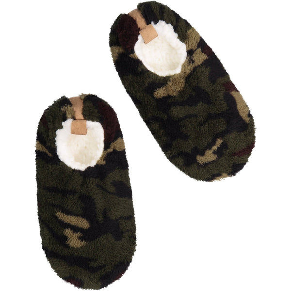 Men's Fluffy Camo Slipper Socks