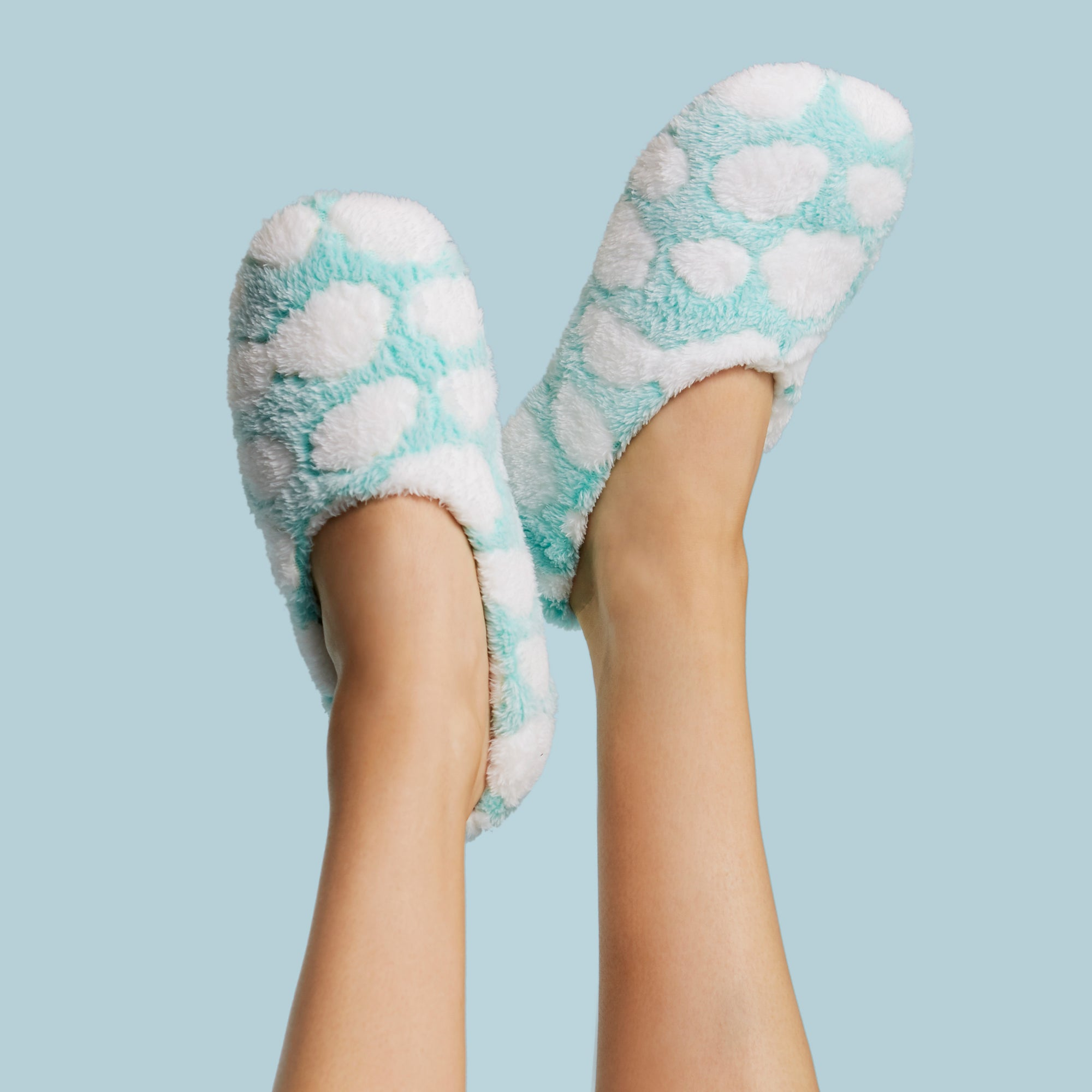 Fluffy Cloud Slippers with Grippers