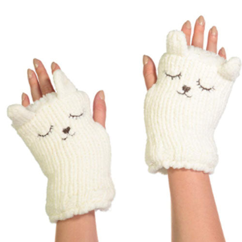 Chenille Fingerless Gloves