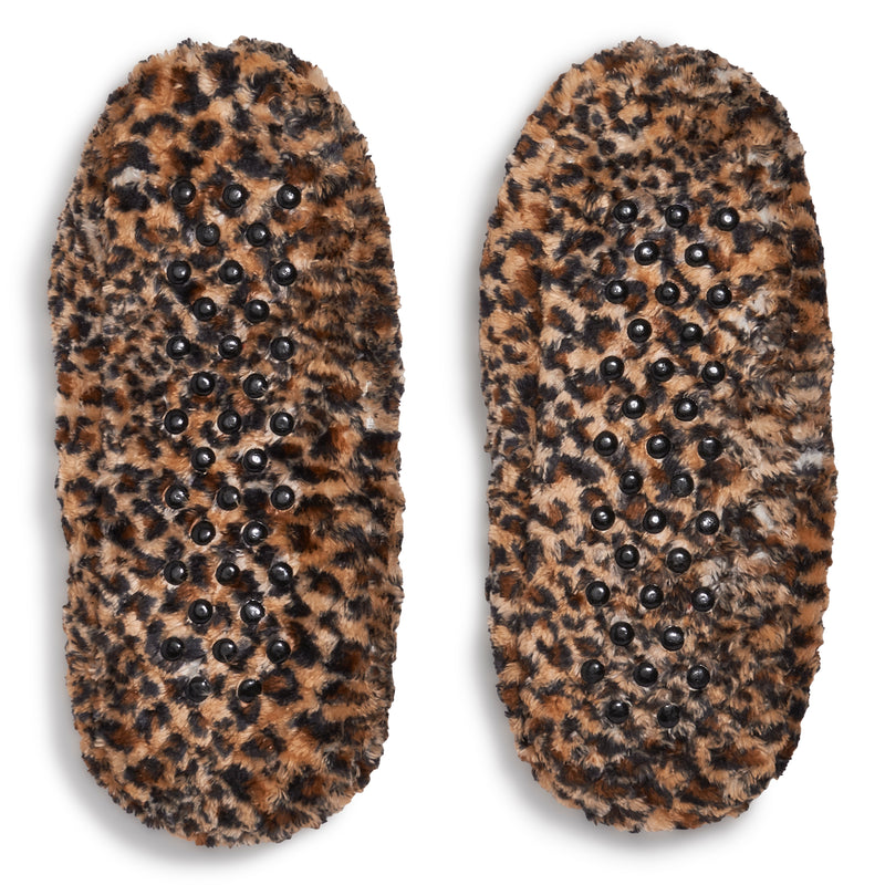 Women's Leopard Quilted Slipper Sock