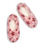 Women's Glow in the Dark Pink Stars Dreamy Babba™ Slipper Sock