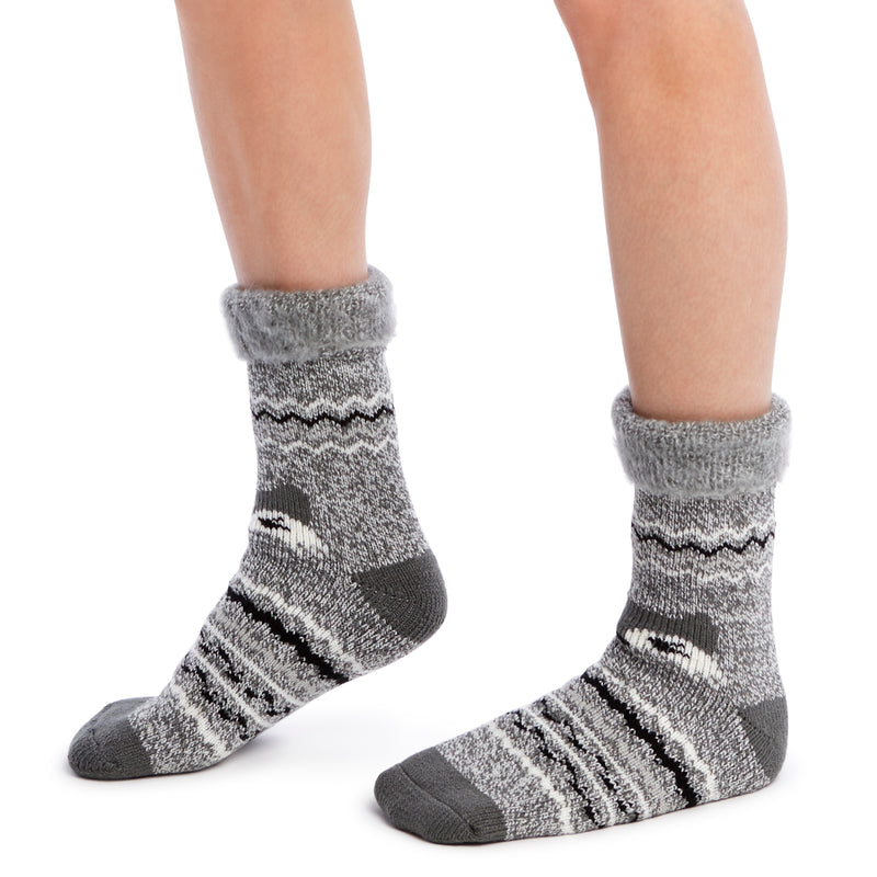 Women's Fox Recliner Slipper Sock - Fuzzy Babba