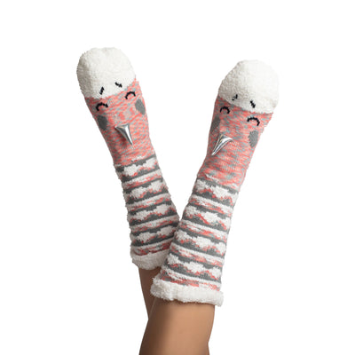 Women's Llama Slipper Sock with Sherpa Lining