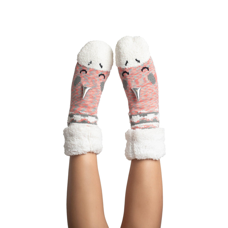 Women's Unicorn Slipper Sock with Sherpa Lining