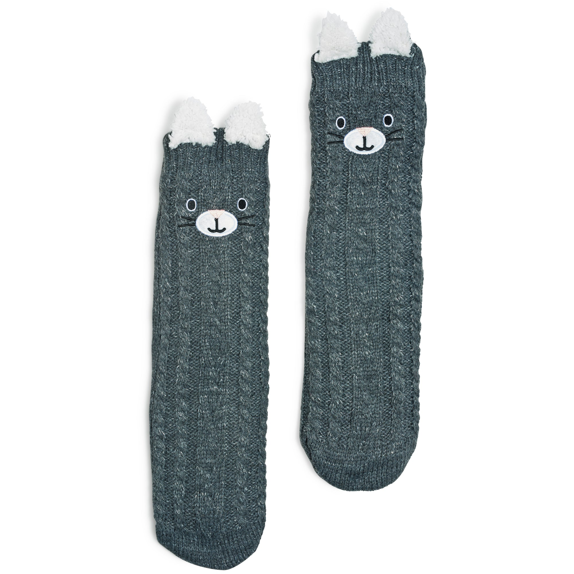 Women's Kitty Cozy Warmer™ Slipper Sock with Pop-up Ears