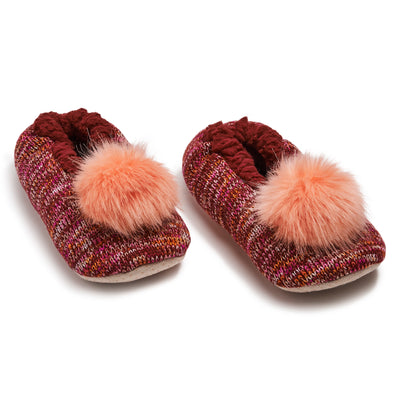 Women's Knit Babba with Pom - Fuzzy Babba