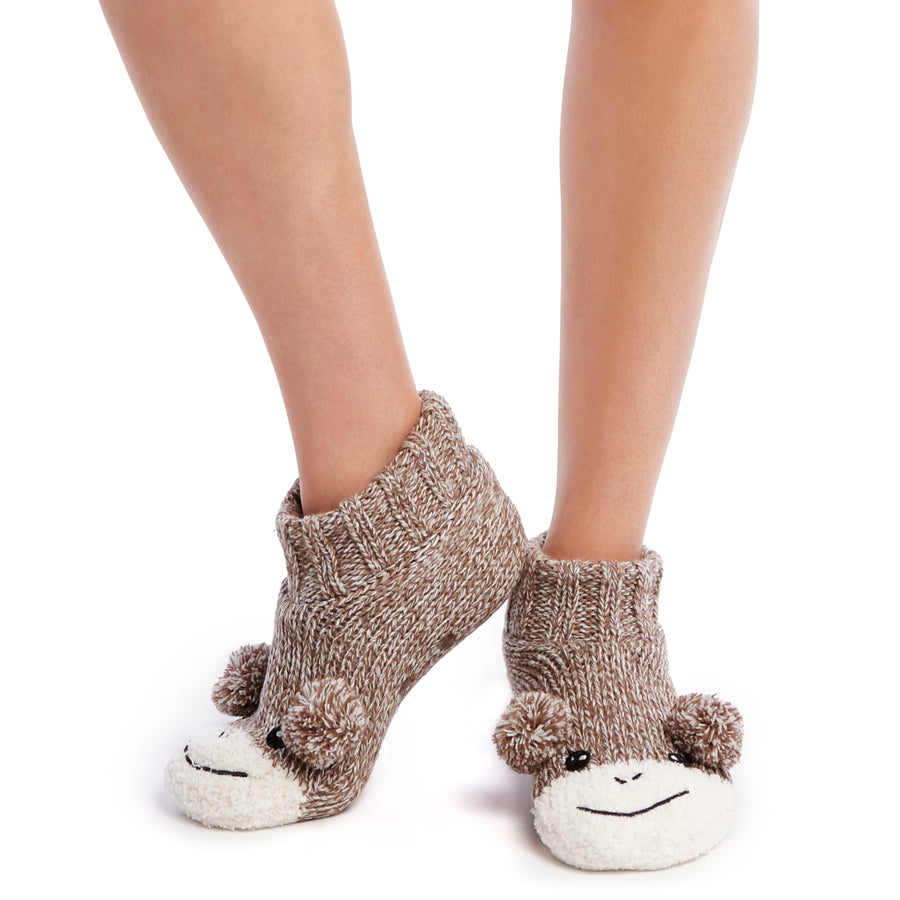 Women's Ultra Cozy Monkey Kritter Knitter™ Slipper Sock