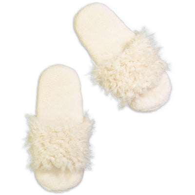 Women's Fluffy Slides - Fuzzy Babba