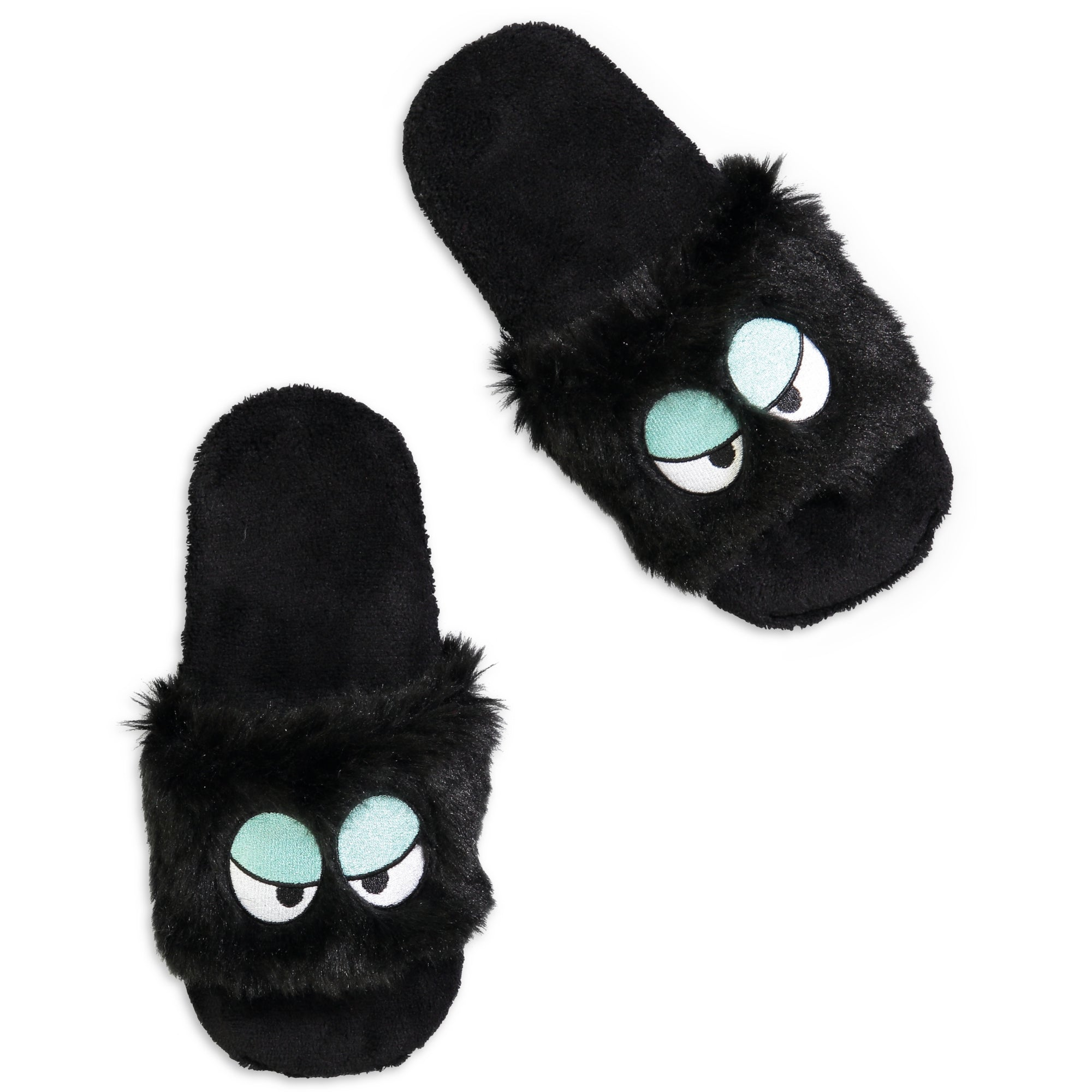 Women's Sassy Eyes Fluffy Slides