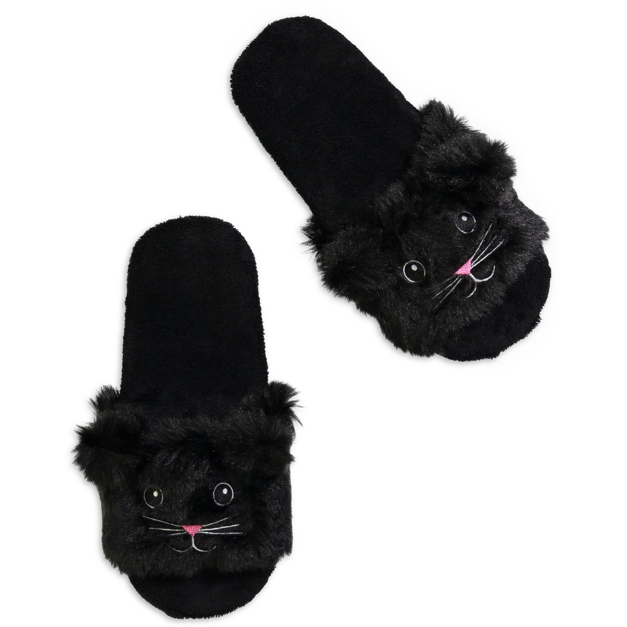 Women's Kitty Fluffy Slides with 3D Ears