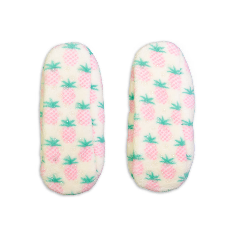 Women's Pineapple Print Springtime Slipper Sock
