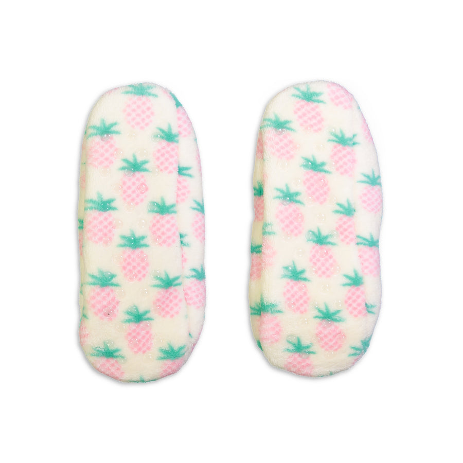 Women's Pineapple Print Springtime Soft Slipper - Fuzzy Babba