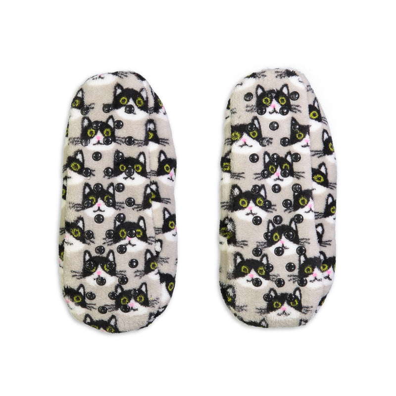 Women's Kitty Print Springtime Soft Slipper - Fuzzy Babba